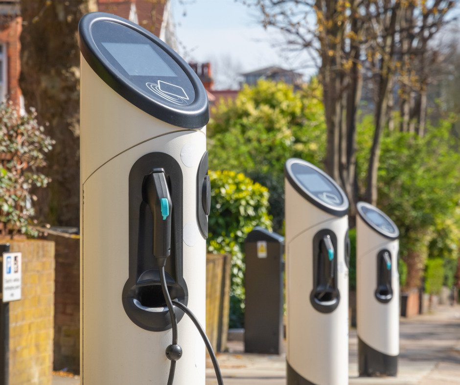 Electric Car Charging Station On London Street Picture Id1183367421