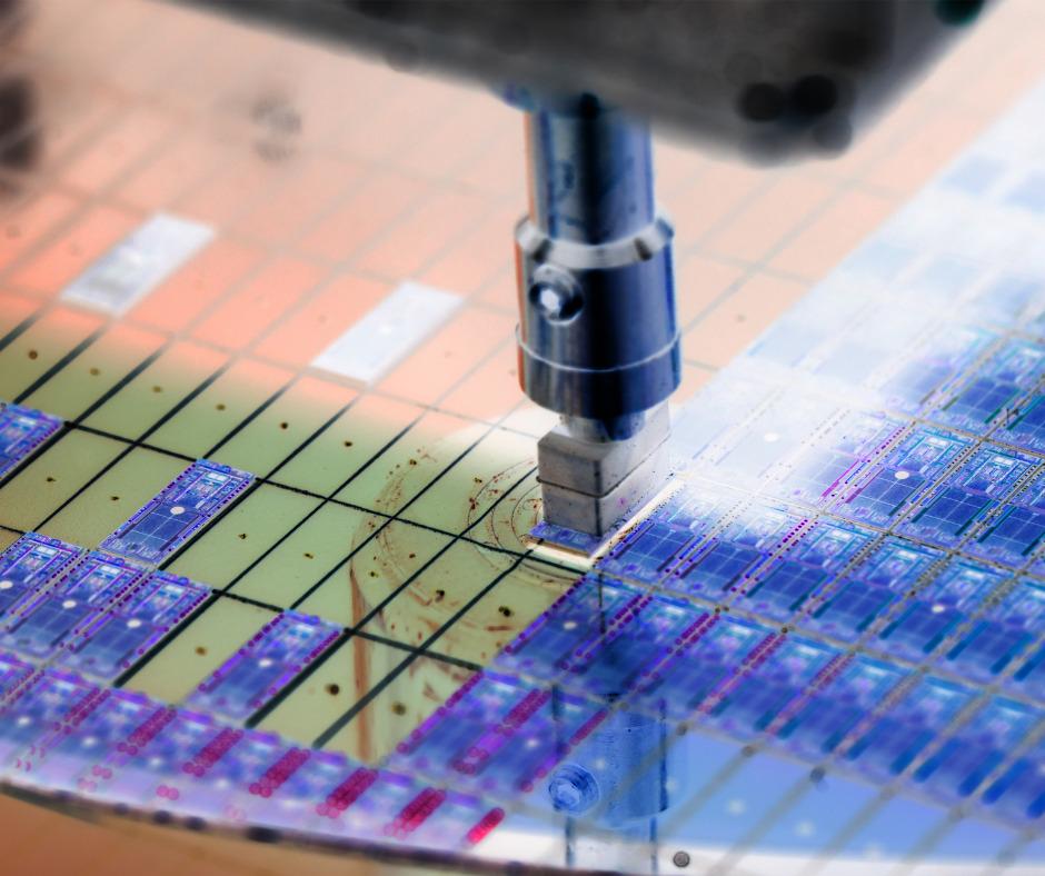 Silicon Wafer Negative Color In Machine In Semiconductor Picture Id1221138143