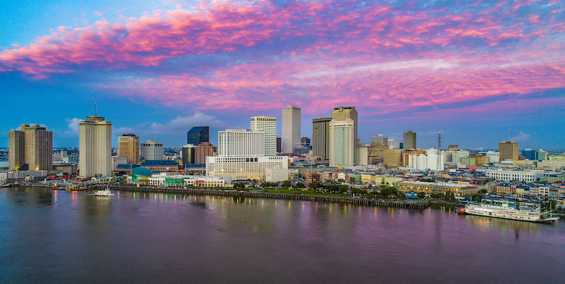 Downtown New Orleans, Louisiana, Usa Skyline