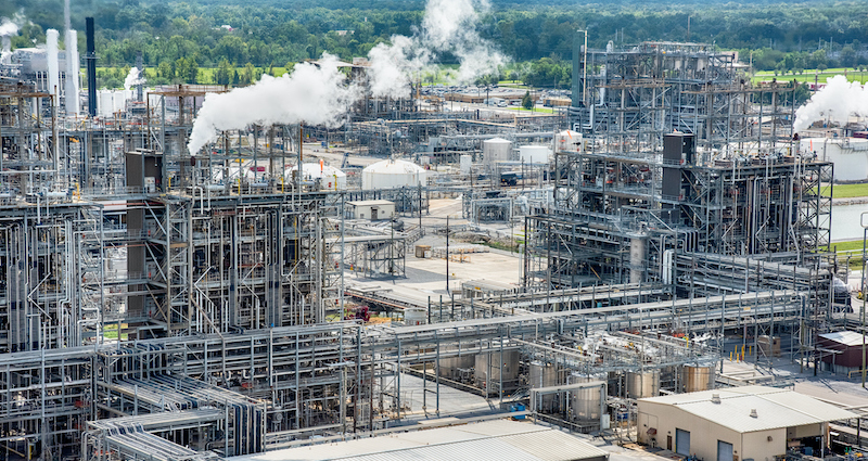 Chemical Manufacuturing Plant Aerial
