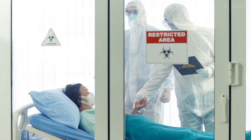 Doctor Examines Corona Or Covid 19 Virus Patient