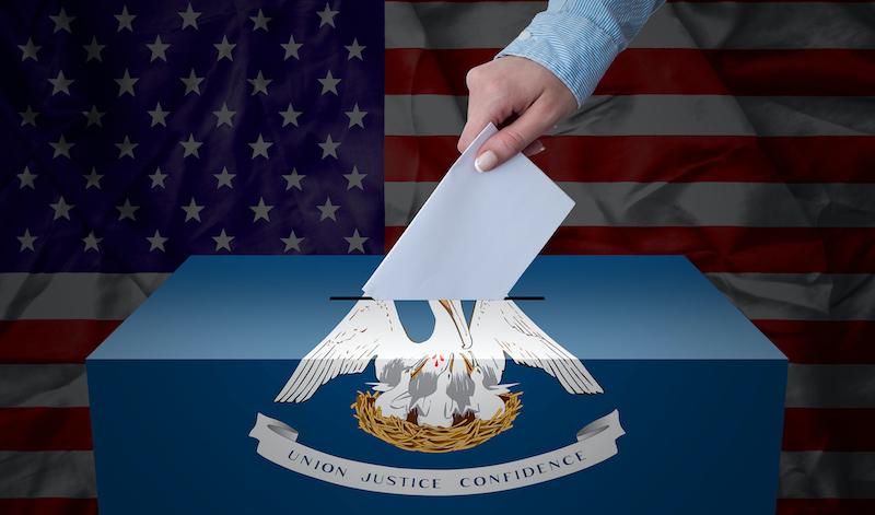 Ballot Box Election Louisiana, Usa