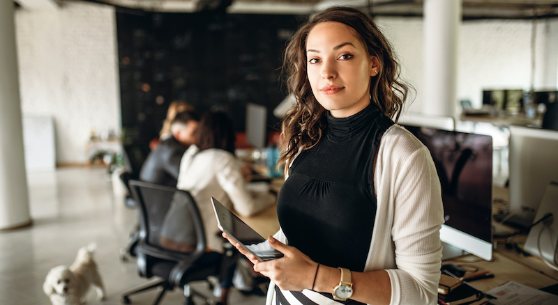 Photo Of Young Business Woman In The Office