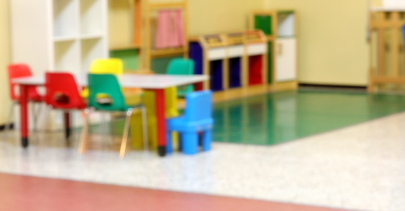 Inside A Kindergarten Intentionally Out Of Focus