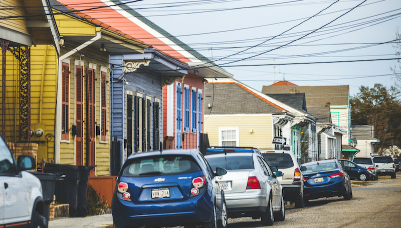 Streets Of Treme Neighborhood.