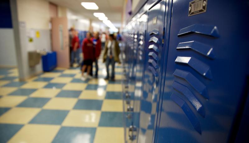 School Hallway Lockers