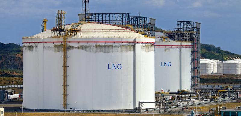 Lng Storage Tanks At Regasification Terminal