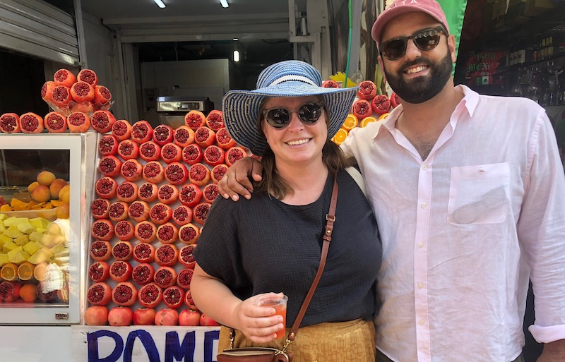 Alon + Emily At Market In Israel