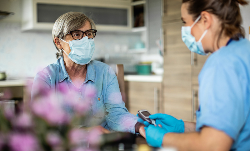 District Nurse At Home Visit