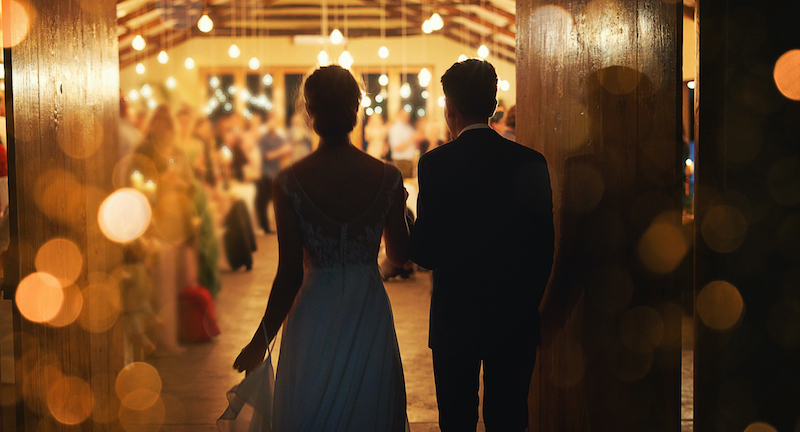 Making A Grand Entrance Into Marriage