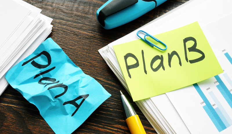 Time For Plan B In Business Concept. A Crumpled Piece Of Paper With Words Plan A.