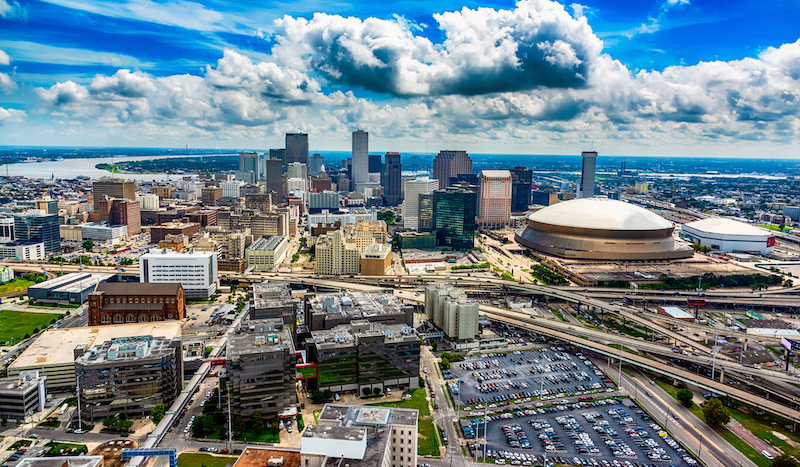 Aerial New Orleans Scenic