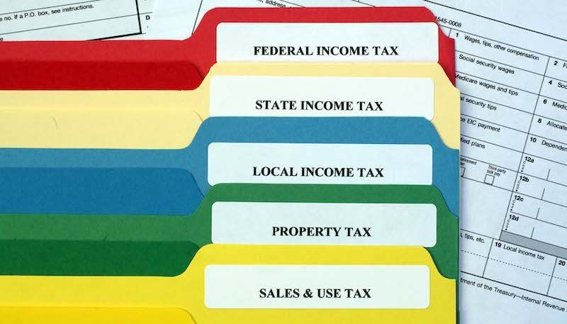 File Folders Of Taxes