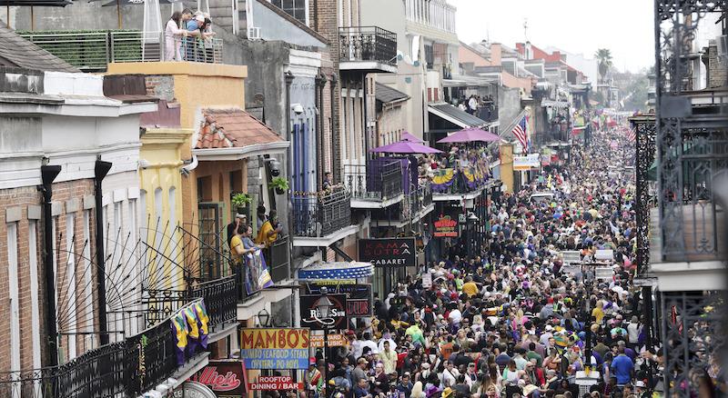 Subdued Mardi Gras