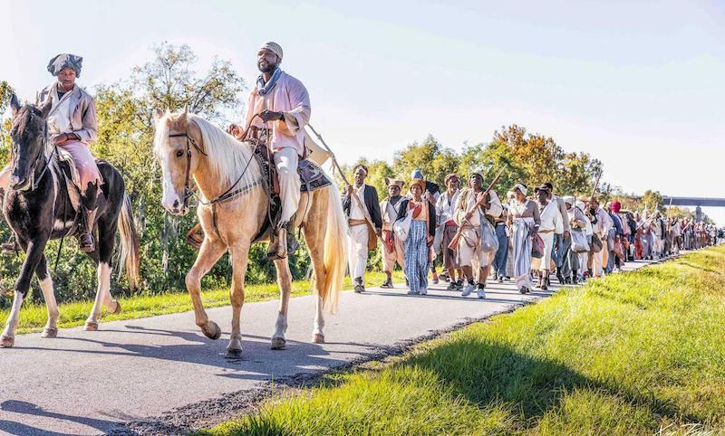Destrehan Slave Revolt Reenactment Organized By Artist Dread Scott