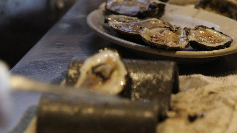 Oysters Being Prepared