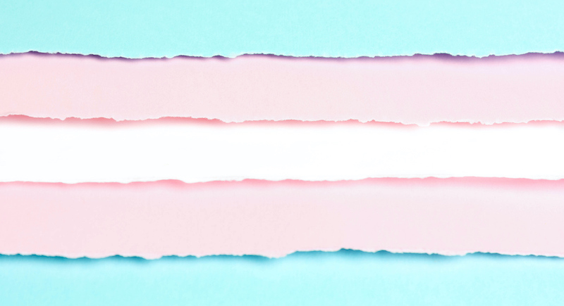 Paper Color Flag Transgender