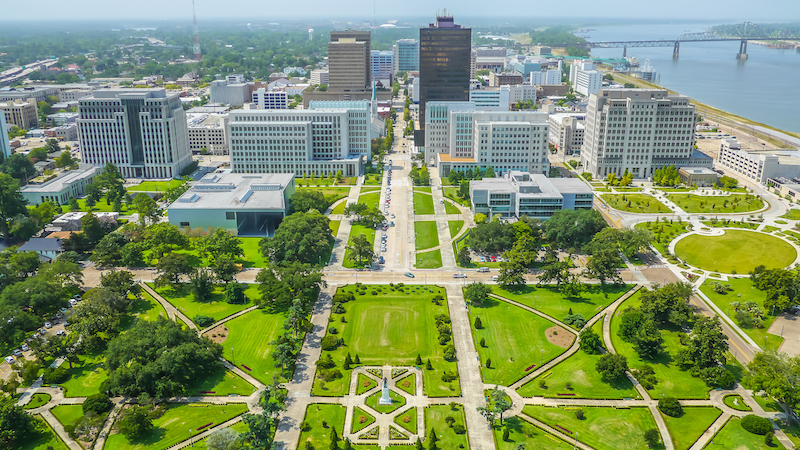 Aerial View Of Baton Rouge City