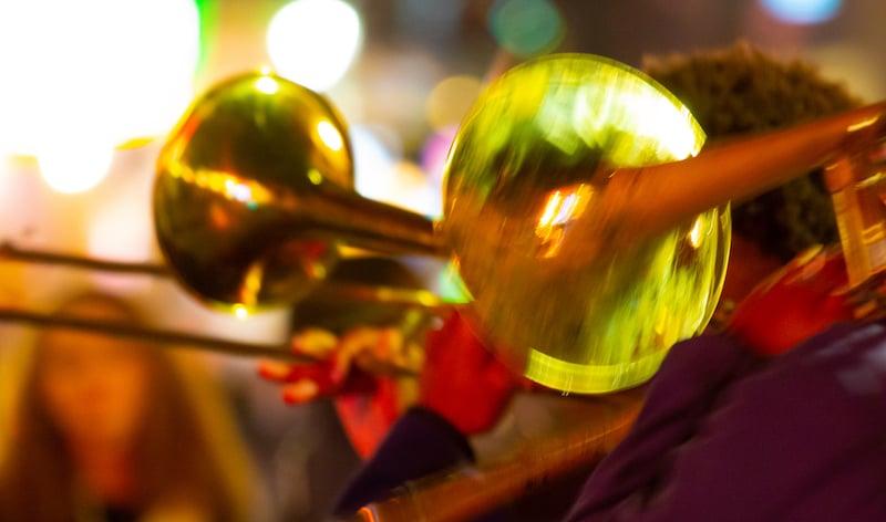 Street Musicians At Night