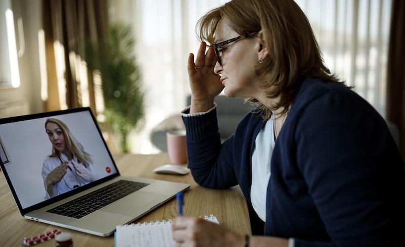 Senior Woman Having Online Doctor Consultation