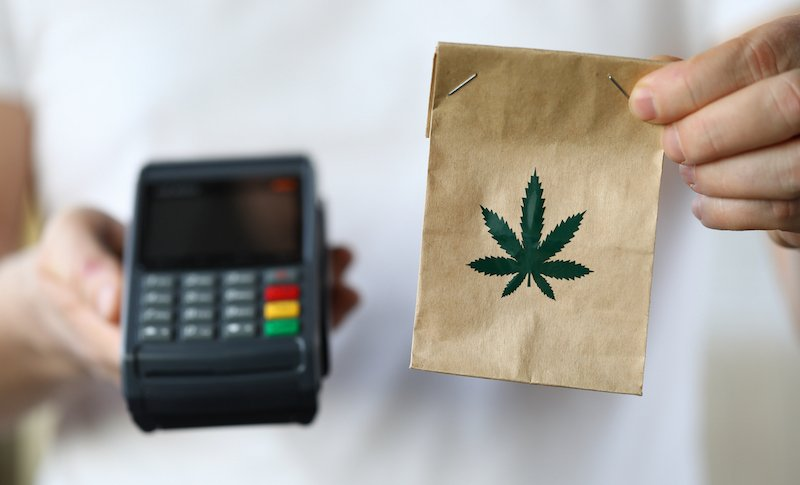 Package Delivery With Marijuana, Payment Terminal