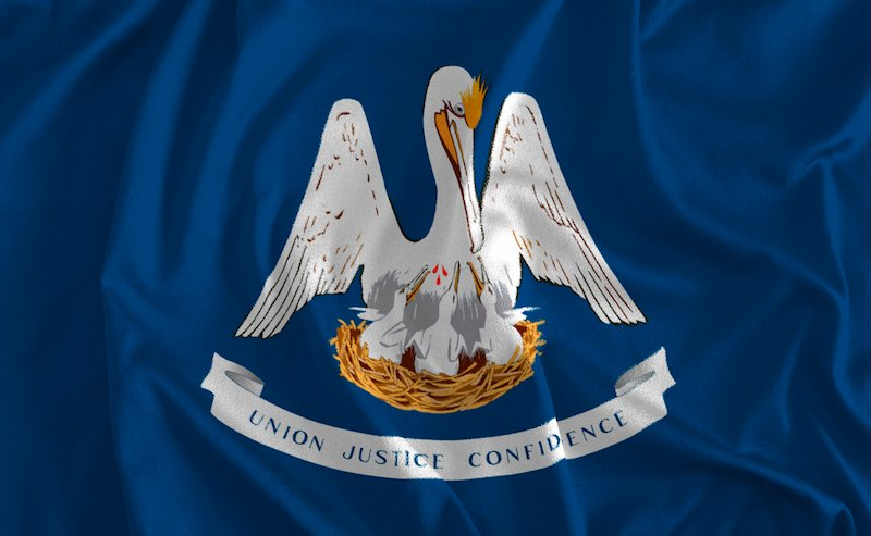 Flag Of Louisiana Background, Pelican State