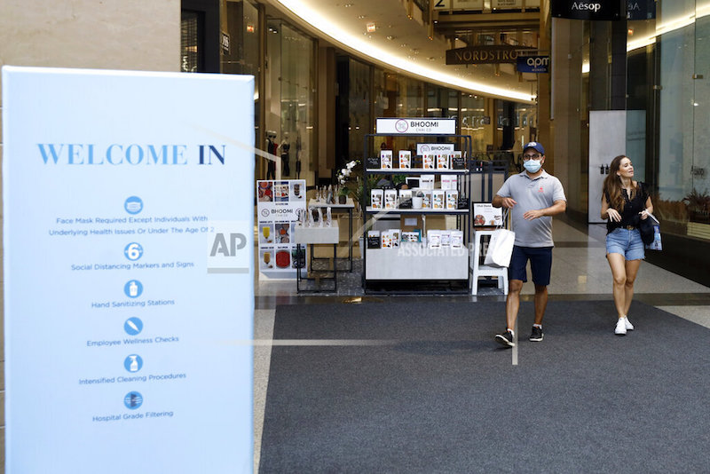 Shoppers Return To Stores