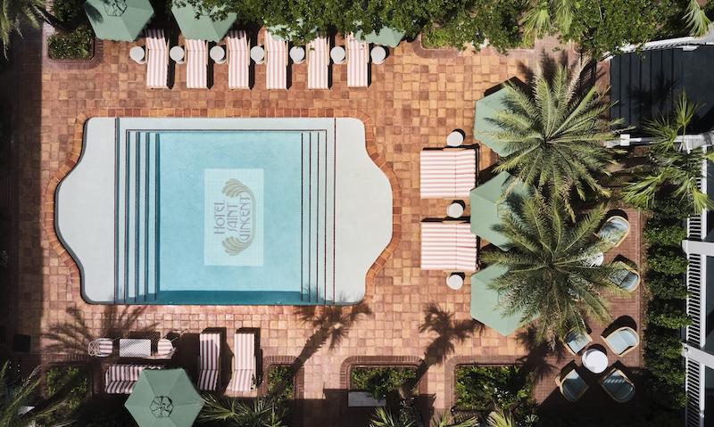 Hotel Saint Vincent Courtyard X Pool Aerial By Douglas Friedman