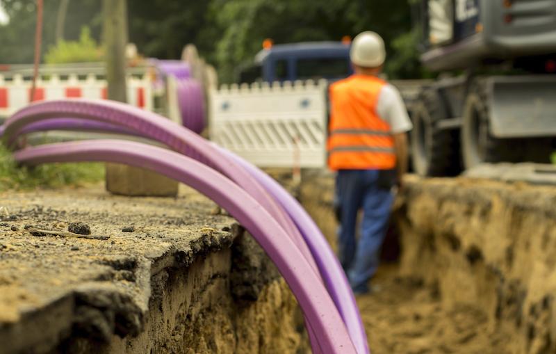 Fiberglass Network Under Construction