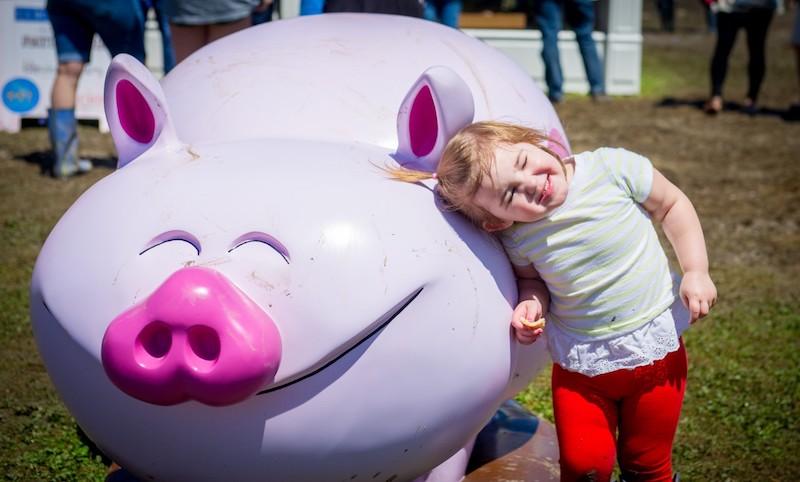 Thumbnail Kid On Pig