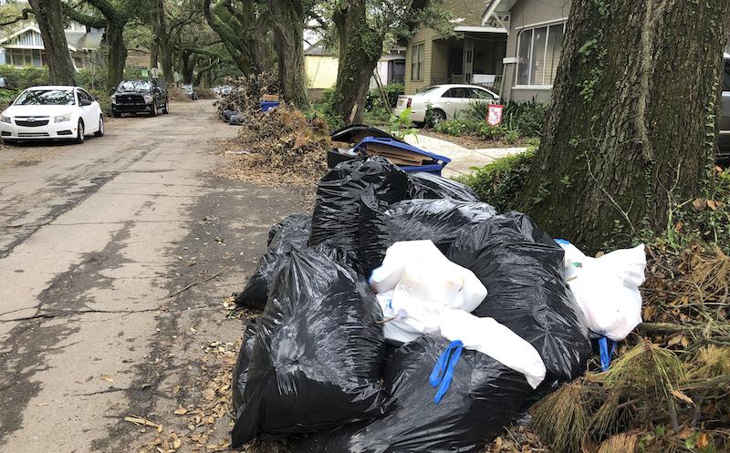 Ida New Orleans Trash