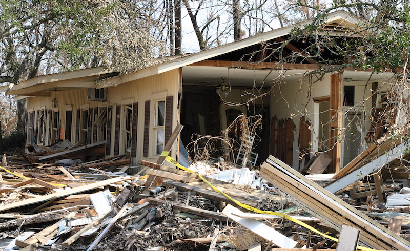 Remains Of The Devastation Left By Hurricane Katrina