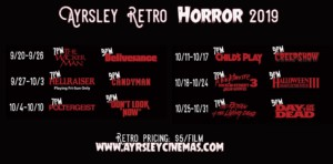 2019 Ayrsley Retro Horror Series @ Ayrsley Grand Cinemas | Charlotte | North Carolina | United States