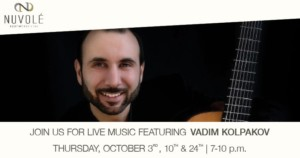 Live Music Featuring Vadim Kolpakov @ Nuvole Rooftop TwentyTwo | Charlotte | North Carolina | United States