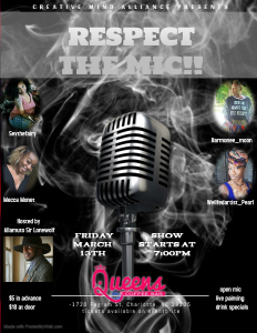 Respect the Mic Series @ Queens Coffee Bar  |  |  |