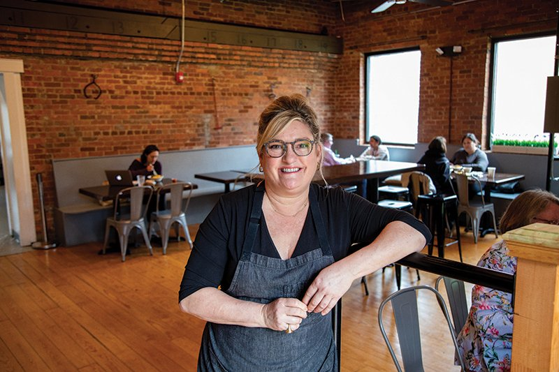 Davidson Nc February 13th Davidson Ice House Owner Jenny Brûlée's And A Build Your Own Bowl With Pickled Cauliflower, Edamame, Tickled Pink Onions, Kale Slaw, Tomatoes, Chickpea Salad And Pimento Cheese And A Classic Beef Burger With Sidewinder Fr