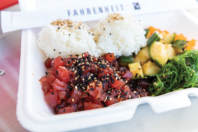 Charlotte, Nc June 11th Fahrenheit Food Truck Kailua Pork Spicy Chicken Katsu Sandwich Kailua Pork Crinkles Poke Bowl Photo Of Chef Dave Feimster (sushi Dave) Photographed In Charlotte, Nc On June 11th, 2020. Photo By Peter Taylor