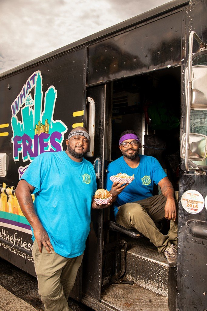 Charlotte, Nc July 16th Chef Greg Williams And Chef Jamie Barnes With Their What The Fries Food Truck. Photographed In Charlotte, Nc On July 16, 2020. Photo By Peter Taylor