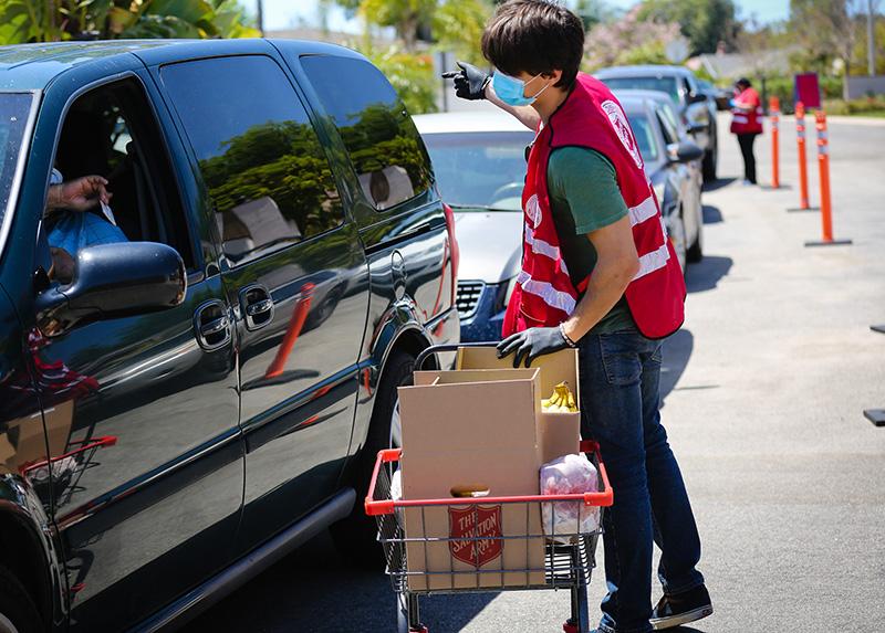 Drive Through Food Distribution Brent Rinehart