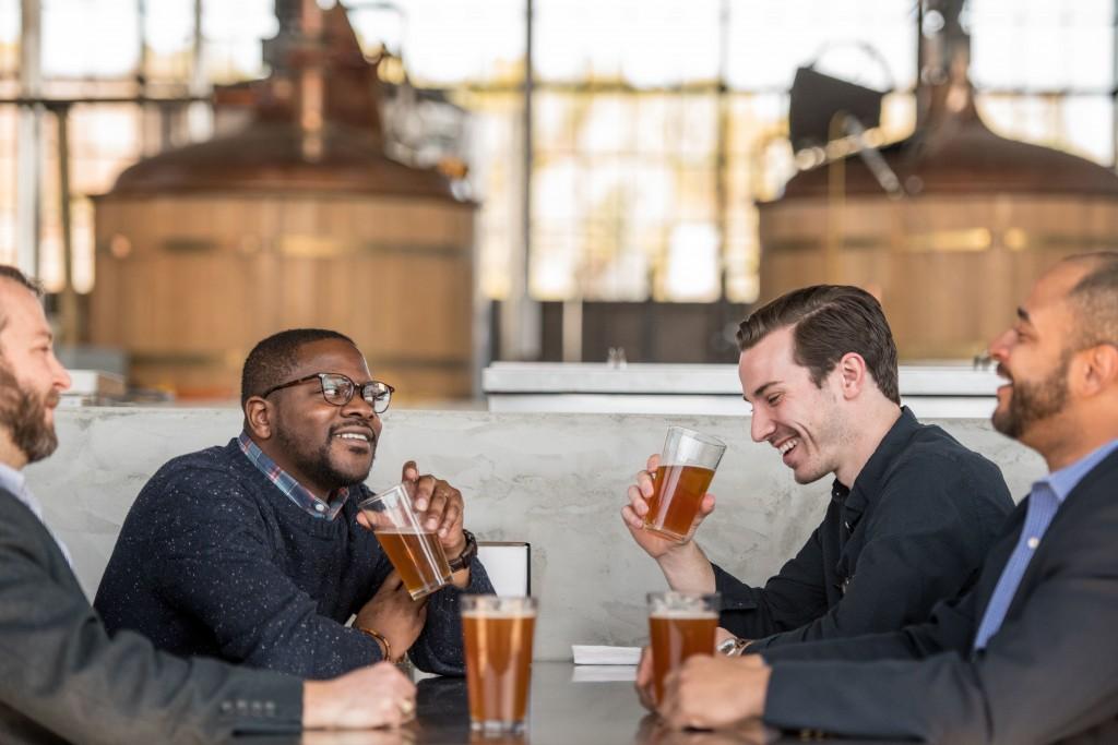 Guys In Brewery Hunter Gatherer At Curtis Wright Hangar