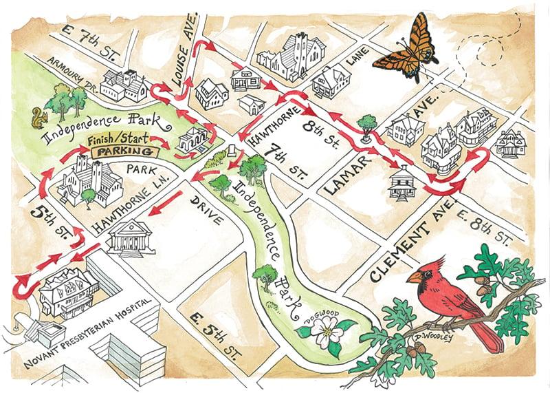 Elizabeth Walking Map No Hdr