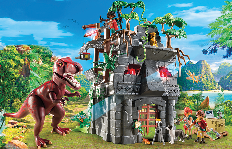 Hidden Temple With T Rex 9429