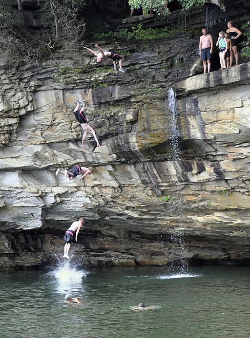 Cliff Jumping At Summersville Lake 09