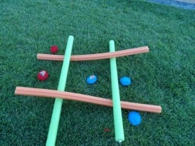Pool Noodle Giant Tic Tac Toe