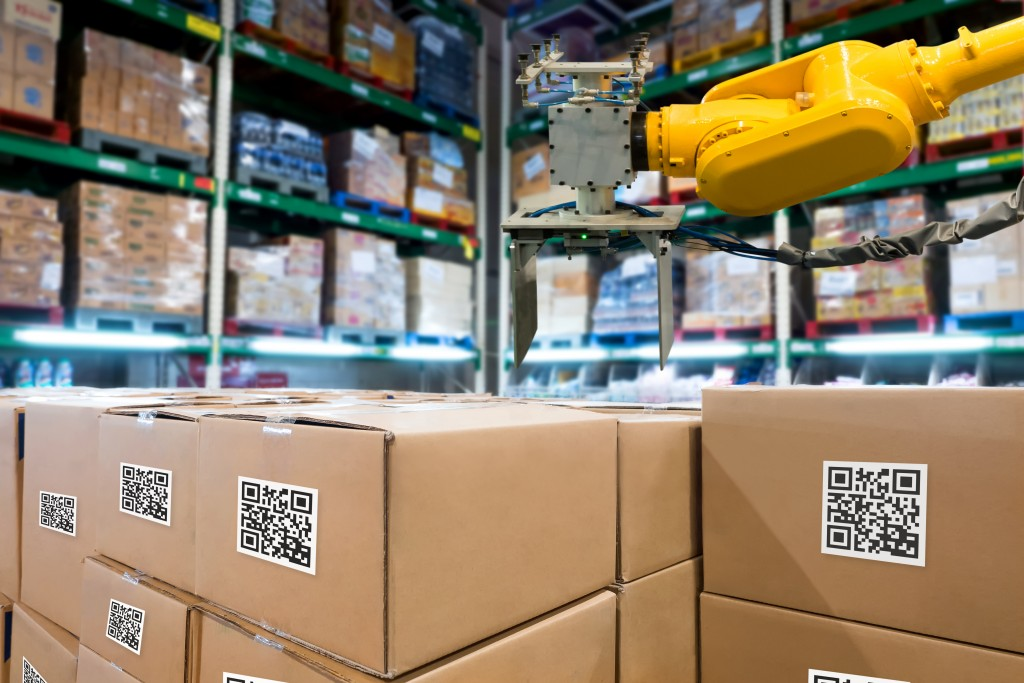 Smart,logistic,industry,4.0,,,qr,codes,asset,warehouse,and
