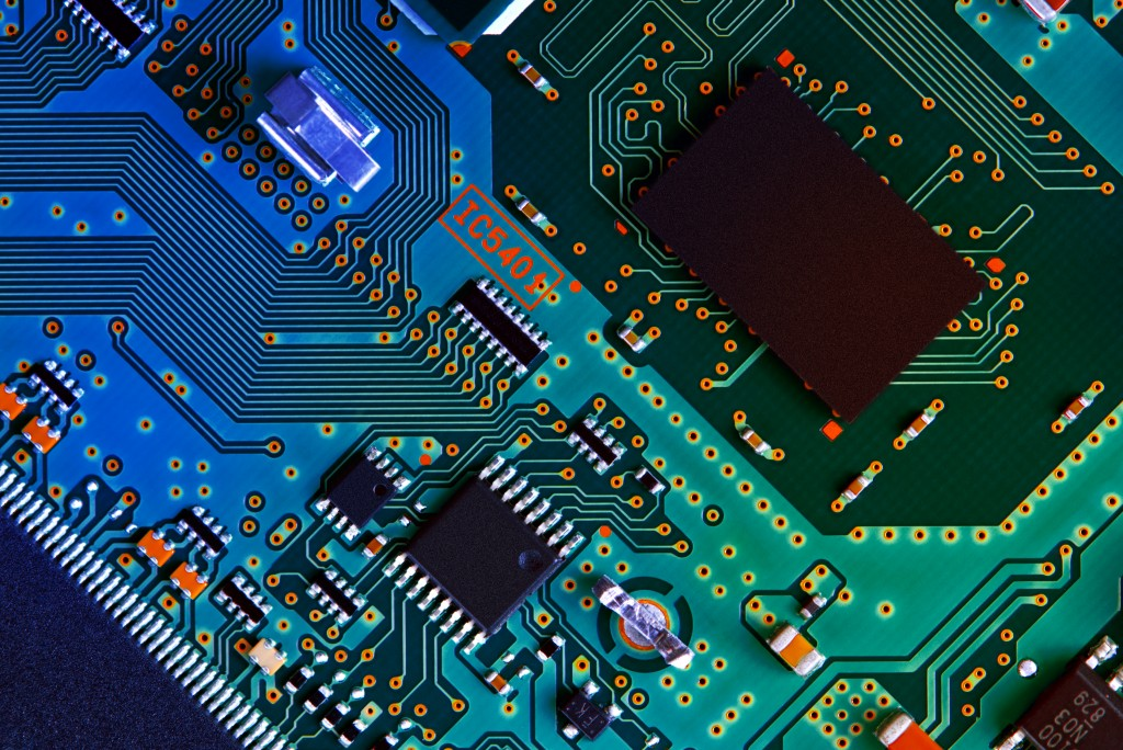 Electronic,circuit,board,close,up.