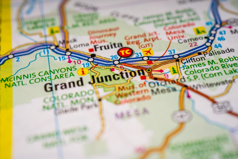 Grand,junction,usa,map,travel,background