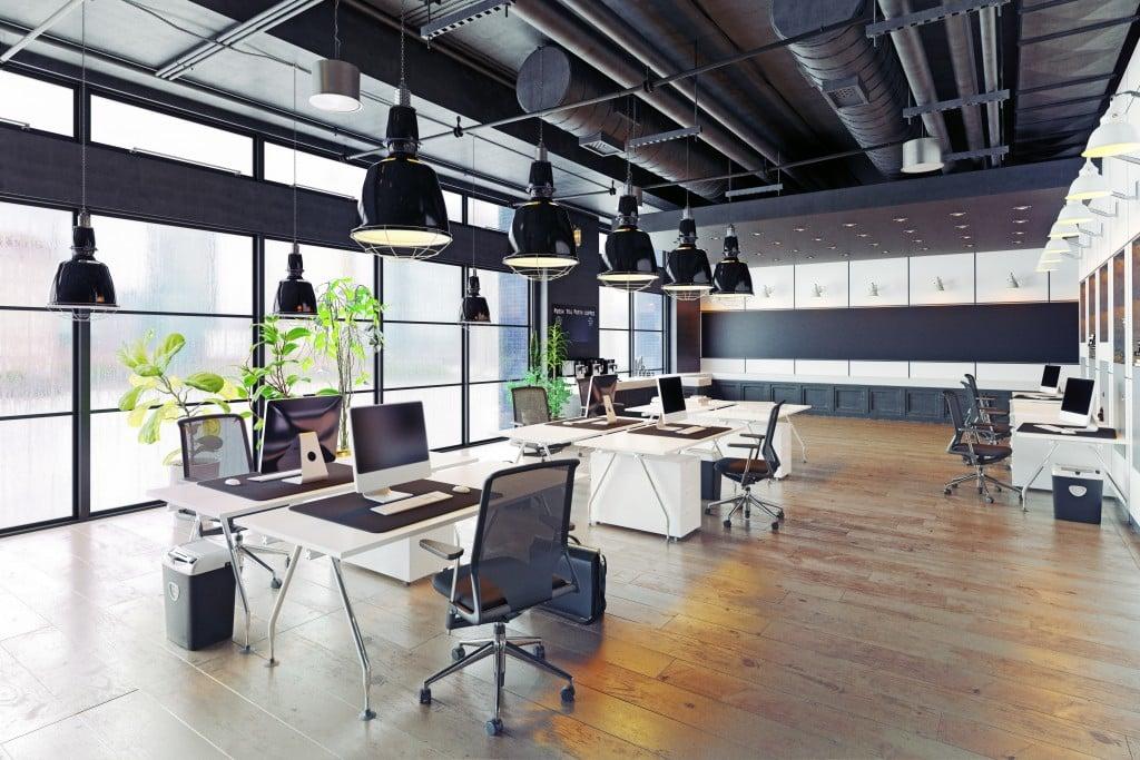 Modern,cozy,loft,office,interior.,3d,rendering