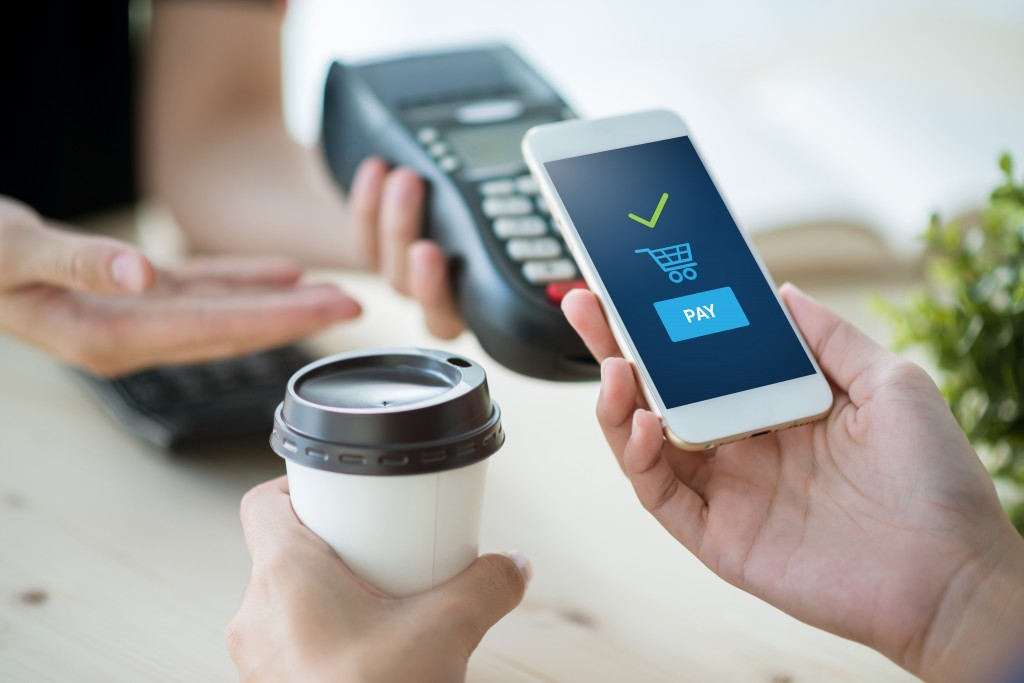 Mobile,payment,,online,shopping,concept