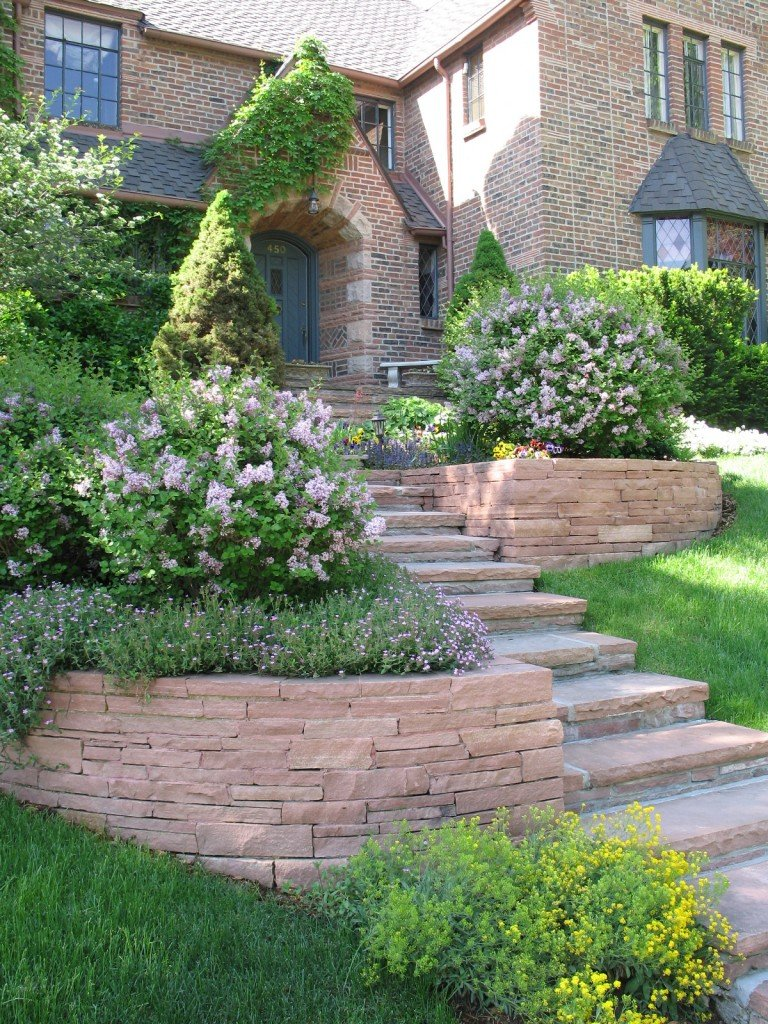 Red Flagstone Walls